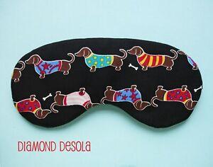Eye Sleep Mask Dachshund Soft Cotton Blackout Relax Sausage Dog Gift Blackout
