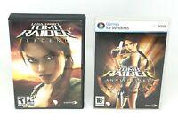 Lot of 2 LARA CROFT Tomb Raider LEGEND & ANNIVERSARY PC DVD Rom