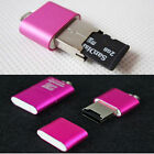 1PC USB 2.0 High Speed Mini Micro SD TF T-Flash Memory Card Reader Adapter Pink