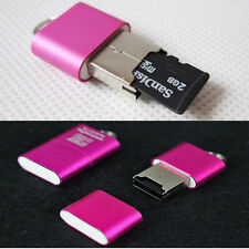 1PC High Speed Mini USB 2.0 Micro SD TF T-Flash Memory Card Reader Adapter Pink