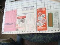 vintage Paper Ephemera: misc papers, desk ALL-STEEL, envelope, Snap-a-part forms