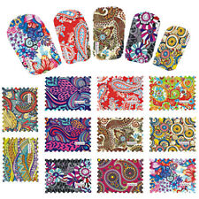 Lots 44 DIY Nail Polish Stickers Full Patch Foils Nail Art Adhesive Decals