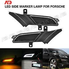 Smoke LED Side marker Turn Signal Light Running Lamp For Porsche Cayenne 07-10