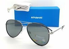 NEW Polaroid sunglasses PLD1020/S R80 56mm Black Gunmetal Grey AUTHENTIC Aviator