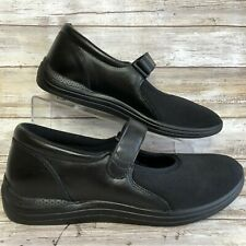 NEW Drew 10.5M Magnolia Black Leather Mary Jane Shoe Double Insoles Womens