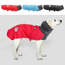 Waterproof Dog Jacket Dog Winter Coat with Padded Fleece Lining and high Collar