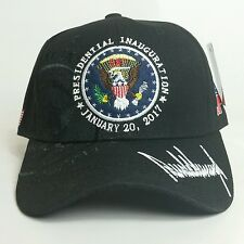 BLACK Donald Trump 58th INAUGURATION Presidential Seal HAT New Design