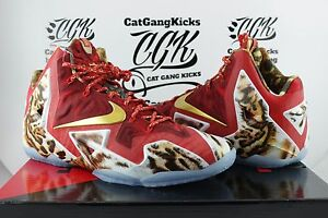DS Nike LeBron XI NBA 2K14 Limited Edition 2014 Pairs 650884-674 James 11.5