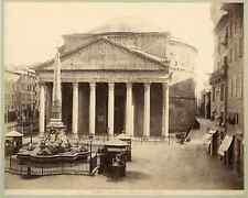 Italia, Rome, Pantheon o Mausoleo d'Agrippa  Vintage albumen print. Italy.