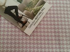 Gutermann Notting hill pink/white dogs tooth 100%cotton, fat quarter, free p&p,