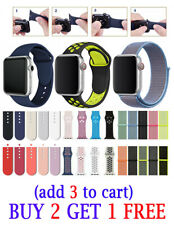 Silicone Nylon Strap Sports Band For Apple Watch Series 5 4 3 2 1 38/40/42/44mm