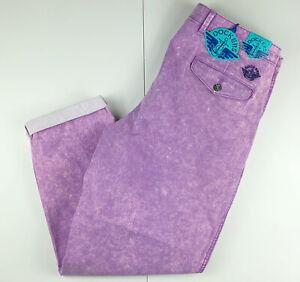 Dockers Chandler Pleated Pants Acid Wash Purple Violet $79 34x29