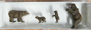Preiser HO #20386 Brown Bears (1:87th Scale) NEW / HO Scale