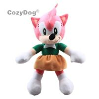 Amy Rose The Hedgehog Plush Toy Stuffed Animal Plushies Doll 10'' Birthday Gift