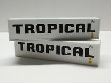 HO Scale Athearn Walthers Lot of (2) TROPICAL 40' Intermodal Shipping Containers
