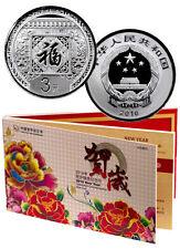 2016 ~ CHINA ~ 3Y~8~GRAM SILVER ~ NEW YEAR CELEBRATION ~MINT DISPLAY~COA ~$44.88