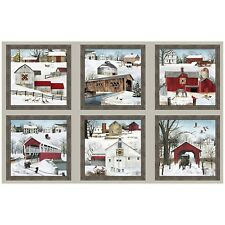 "23"" Fabric Panel - Elizabeth's Studio Headin' Home Christmas Barn & Covered Brid"