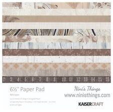 "*PreOrder KAISERCRAFT Scrapbooking 6.5"" Paper Pad - Whisper Rustic Fern"