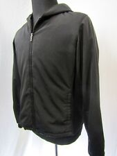 Womens Eddie Bauer Hooded Large Jacket Black Insulated Poly Shell Nylon Lined