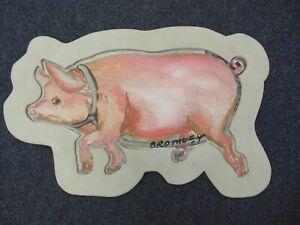 David Bromley Original Painting Acrylic on CANVAS 38X56cm THIS LITTLE PIGGY JUNO