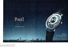 PUBLICITE ADVERTISING 106  2014  Piaget (2p)  montre City Londres Altiplano 900