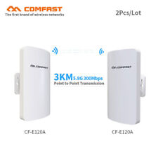 2Pcs 3km Comfast Outdoor Cpe 5Ghz 300Mbps Wireless Access Point WiFi Repeater
