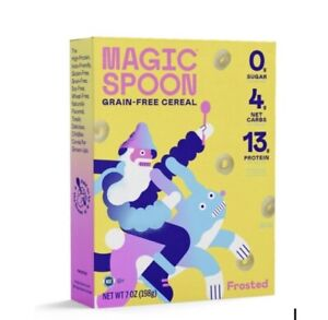 Magic Spoon Cereal Frosted Keto | Low Carb Protein Breakfast Snack Healthy 1 Box