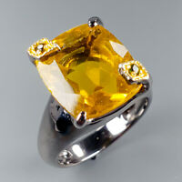 Women Jewelry Natural Citrine Quartz 925 Sterling Silver Ring Size 8.5/R117017