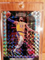 LeBron James 2018-19 Panini SILVER Prizm Mosaic #65 Los Angeles Lakers MINT