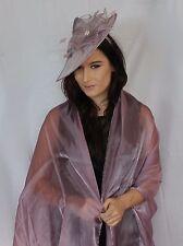 Light Purple Metallic Large Organza ball wrap Shawl Stole Evening Scarves Dance