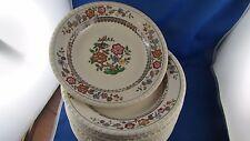 6 anciennes assiettes plates  villeroy et boch nanking faience oiseau fleur