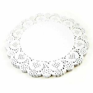 """100x Round Paper Doilies White Laced Coasters Party Drink Mats 16.5cm/6.5"""""""