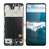 CN OLED For Samsung A51 4G SM-A515U A515U1 A515F LCD Touch Screen Assembly+Frame