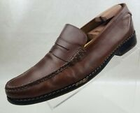 Cole Haan Penny Loafers Moc Pinch Toe Brown Leather Slip On Mens Shoes Size 13M