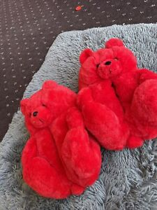 Teddy Bear Slippers Women Home Indoor Comfy Cute Slipper Warm Shoe BRAND NEW