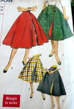 LOVELY VTG 1950s REVERSIBLE WRAP SKIRT Sewing Pattern WAIST 27 FF