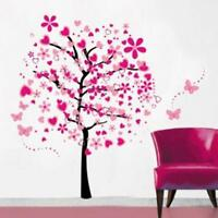 Cartoon Heart Tree Butterfly Wall Stickers Removable Decals Wall Decor