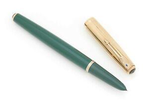 VINTAGE PARKER 51 DOUBLE JEWEL Fountain Pen in NASSAU GREEN [FULLY RESTORED]