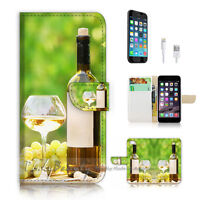 ( For iPhone 7 ) Wallet Case Cover P2674 White Wine