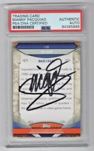 2011 Topps American Pie Pac Man Manny Pacquiao Signed Auto Card #138 PSA/DNA