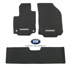 2018 Equinox Premium Carpet Front & Rear Floor Mats Black w/ Ash Gray Binding OE