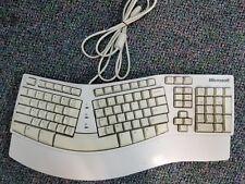 Microsoft Natural Ergonomic PS/2 Keyboard Elite X03-69232 E06401PS2- Tested