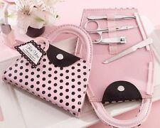 80 Pink Polka Manicure Set bridal shower favors Bachelorette party bridesmaid