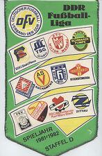 ORIG. banderín DDR-Liga temporada d 1981/82 // todos Club 's!!! Muy raras