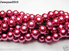 100pcs Top Quality Czech Glass Pearl Round Beads 3mm 4mm 6mm 8mm 10mm 12mm 14mm