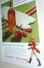 Vintage mounted Cricket Whisky Teamwork Art print 1953