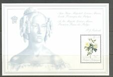 BELGIUM 1989, FLOWERS: THEA ROSES FOR QUEEN MARY-LOUISE,  Scott B1083  S/S, MNH