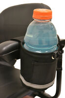 Powerchair / Scooter Horizontal Side Mount Cup Holder and FREE Shipping