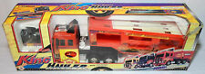VTG 1997 KING HAULER RED TRUCK WITH TRAILER 27 Mhz 1/32 RC MIP WORKING NEW VHTF