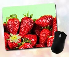 Food ~ Strawberry, Fruit, Fresh, Red, Gift, Decor, Accessory ~ Vivid Mouse Pad